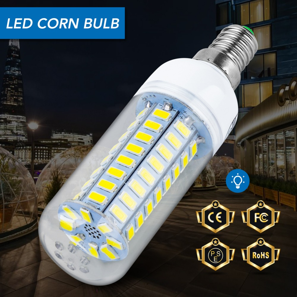 цена на E27 LED light E14 SMD 5730 LED Bulb Corn Lamp 220V Ampoule Led lampada Chandelier 24 36 48 56 69 72leds Energy saving Light Bulb