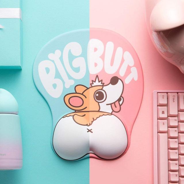 Cute Corgi Dog 3D Mouse Pad