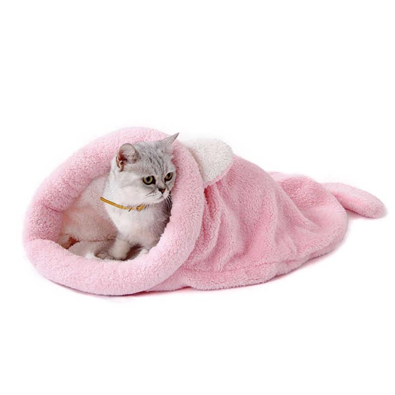 かわいい猫暖かいバッグ犬のベッドペット子犬ハウスソフトマットクッションペットアクセサリー販売 XH8Z