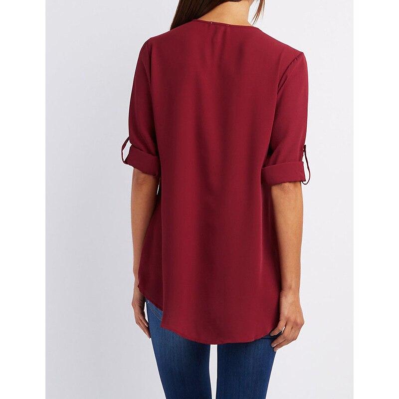 Chiffon Blouse Shirt V Neck Sexy Plus Size XXXXL Black Brand Women Clothes Blusas Feminina Renda Casual Summer Shirt Tops Tee 4