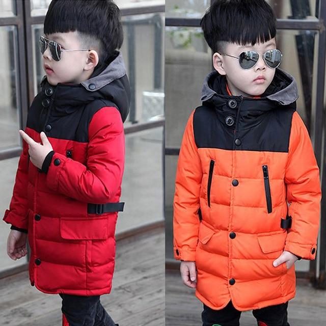 Новинка 2017 года зимняя куртка для мальчиков; верхняя одежда для мальчиков детское пуховое пальто для куртка для мальчиков парка для мальчиков детские
