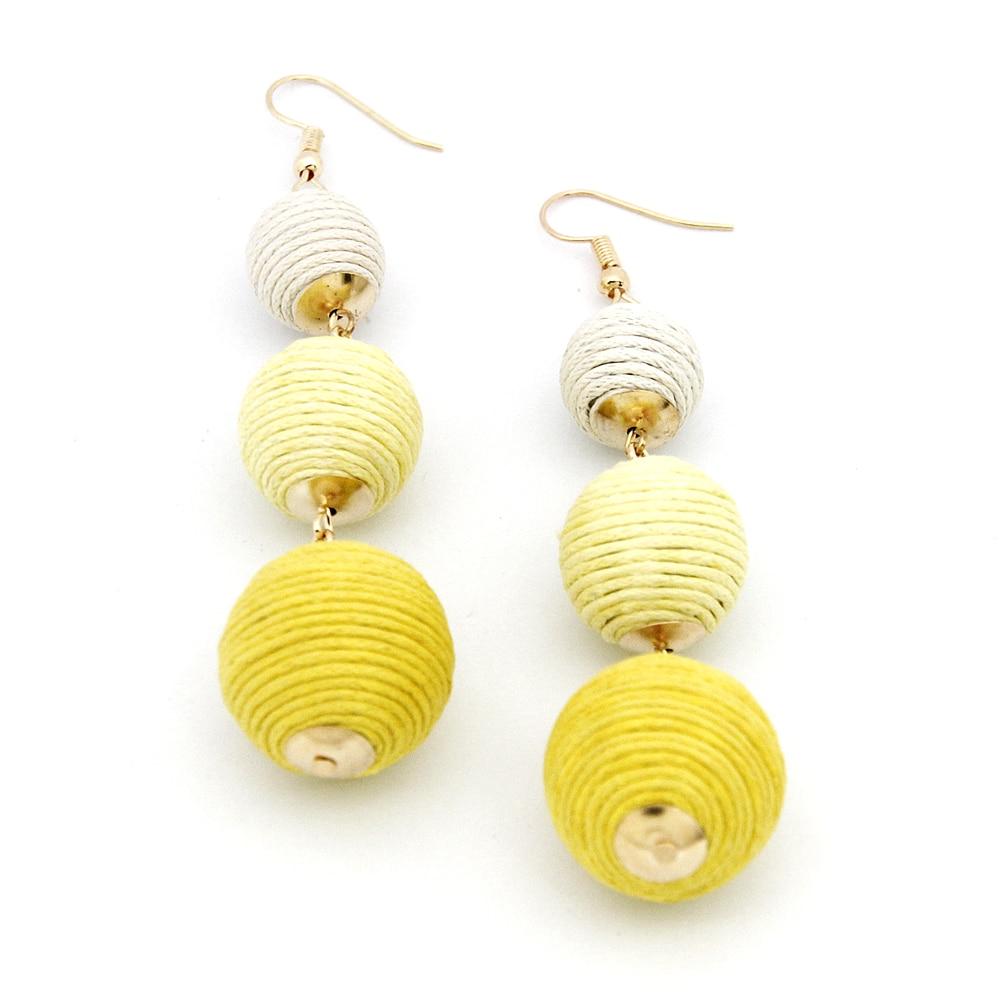 Legenstar Thread Ball Dangle Earrings For Women Pom Drop Beaded Boho Jewelry Brinco