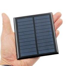 1pcs x 5.5V 1W Solar Panel Portable Mini Sunpower DIY Module Panel System For Solar Lamp Battery Toys Phone Charger Solar Cells
