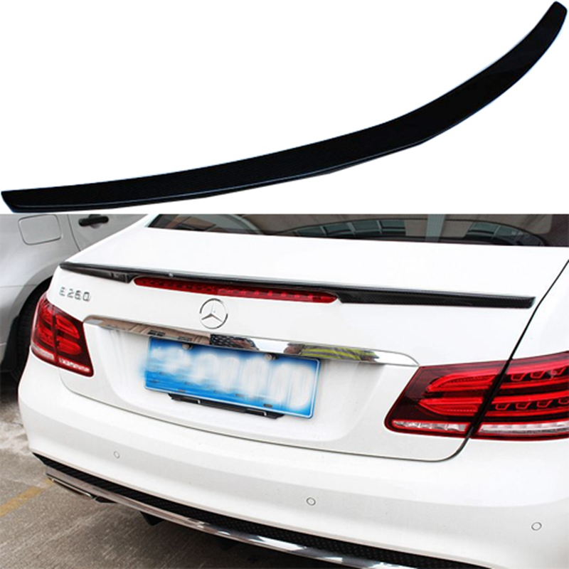 все цены на  For Mercedes-Benz W207 C207 E 2-door Coupe E250 E350 CDI E500 E550 2010-2016 Carbon Fiber Rear Roof Spoiler Tail Trunk Lid Wing  онлайн