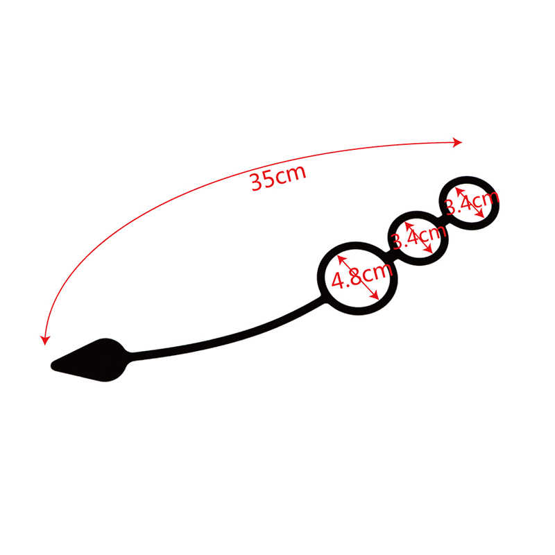 Labu Tipe Penis Cincin Anal Mainan Seks Butt Plug Silikon Prostat Pijat Tiga Ayam Cincin Penundaan Tahan Lama Cincin Mainan Seks untuk Pria O3