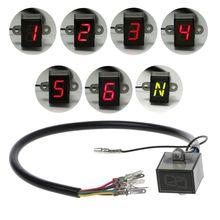 6-Скорость Дисплей мотор Шестерни цифровой индикатор Водонепроницаемый индикация внедорожные Мотокросс светильник нейтральный запасные Запчасти для мотора