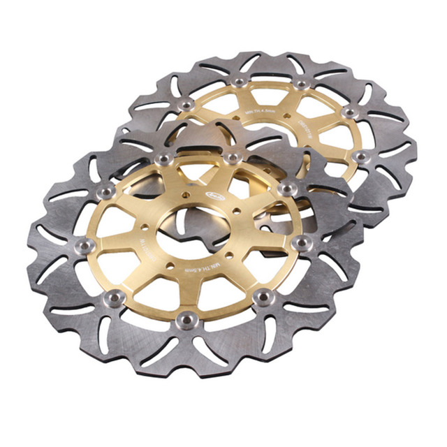 Arashi Front Brake Disc Rotors Set For KAWASAKI KLV 1000 SUZUKI DL650 DL1000 V-STORM SV1000/S Golden