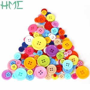 20-200PCs Round Resin Sewing Buttons Scrapbooking Solid Random Mixed Color for DIY Clothes Dolls Crafts Garment Accessories