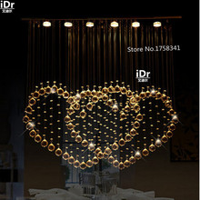 romantic couples Upscale atmosphere modern chandelier minimalist bedroom lamp crystal chandelier living room lights