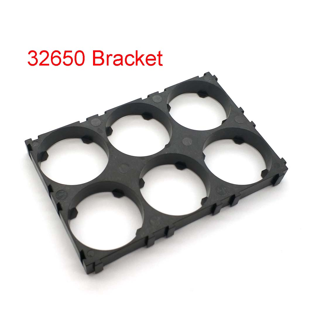 32650 2*3 Battery Holder Bracket Cell Safety Anti Vibration Plastic Brackets For 32650 Batteries