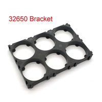 Soporte de batería 32650, 2x3, abrazaderas de plástico antivibración para baterías 32650