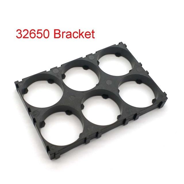 32650 2*3 แบตเตอรี่ผู้ถือ Bracket โทรศัพท์มือถือความปลอดภัย Anti Vibration พลาสติกวงเล็บสำหรับ 32650 แบตเตอรี่