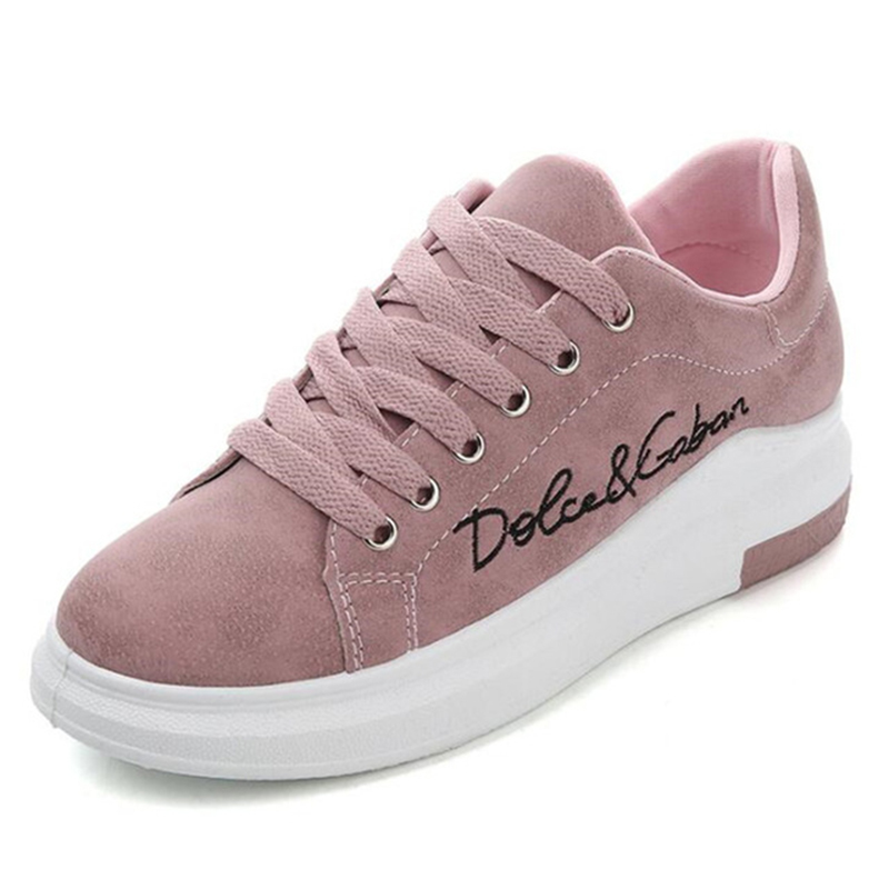 Sneakers Women Casual-Shoes Platform Spring Comfortable Female Autumn Designer New Lace-Up