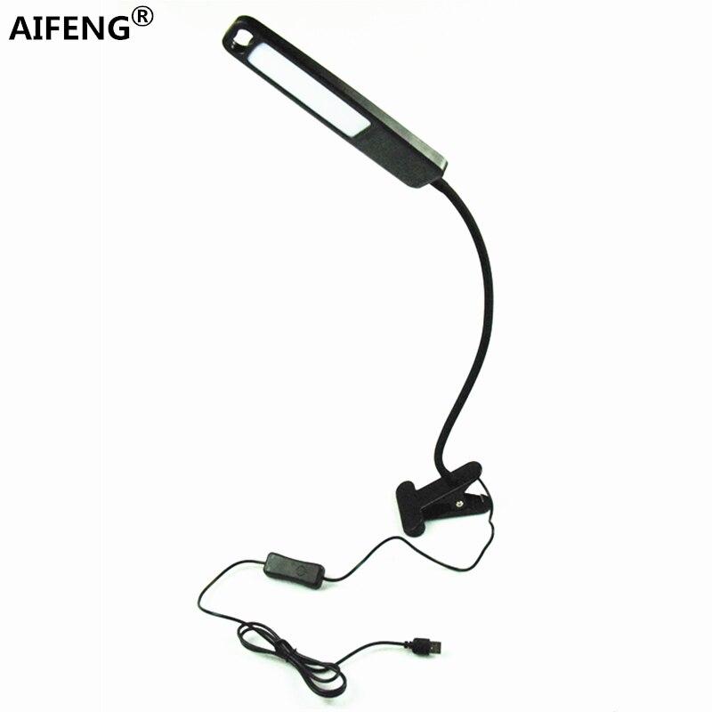 Lampen & Schirme Aifeng Auge Usb Powered Led Licht Für Tisch Stufenlose Dimmen Flexible Metall Schwanenhals Schreibtischlampe Tischlampe Für Studie