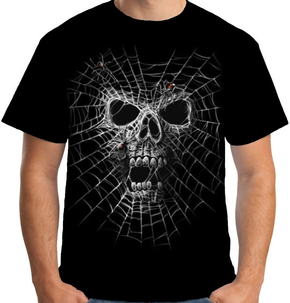 Mens Black Widow T Shirt Horror Evil Death Goth Skull Spider 2019 Funny Cotton Casual Printed Tops Tee