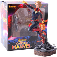 Marvel Avengers Endgame Captain Marvel Flying Position PVC Avengers End Game Action Figure Collectible Model Toy