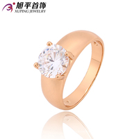 Xuping Fashion Ring New Arrival Top Sale Unique Beautiful Rose Gold Color Plated Synthetic CZ Party