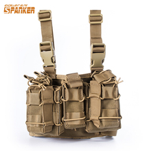 Military Camouflage Tactical Drog Leg Thigh Magazine Pouch 5.56mm and Pistol Mag Airsoftsports Paintball Hunting Gear