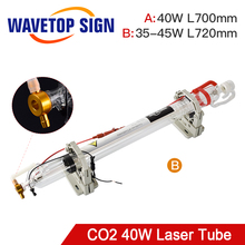 WaveTopSign 40 Вт Co2 лазерная трубка обновленная металлическая головка длина 720 мм dia50мм для CO2 лазерная гравировка машина для резки