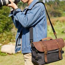 الرجعية للماء الباتيك قماش مسنجر حقيبة الكتف خمر كاميرا رقمية أكياس قطري SLR حقائب لكانون نيكون سوني