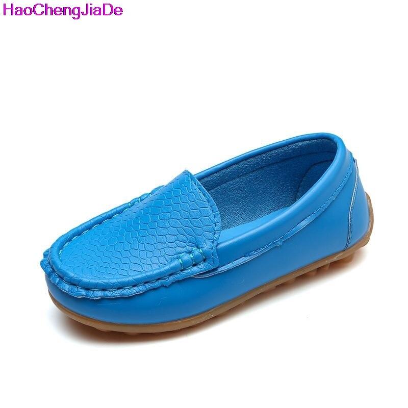 d3238a247dacf Garçons Enfants Sneakers Plat Nouvelles Filles Chaussures Semelles Souples  Slip Sur Mocassins En Cuir Chaussures Bébé Chaussures Bateau (enfant Petit  ...