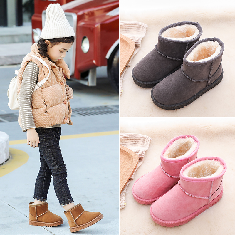 2019 New Winter Fashion Warmth Children Snow Boots Boys and Girls Plus Cotton Warm Soft Boots2019 New Winter Fashion Warmth Children Snow Boots Boys and Girls Plus Cotton Warm Soft Boots