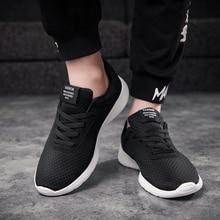 83cf02353 2019 Novos Homens Sapatos Casuais Lace up Men Sapatos Leves Confortáveis  sapatos de Caminhada Respirável Tênis
