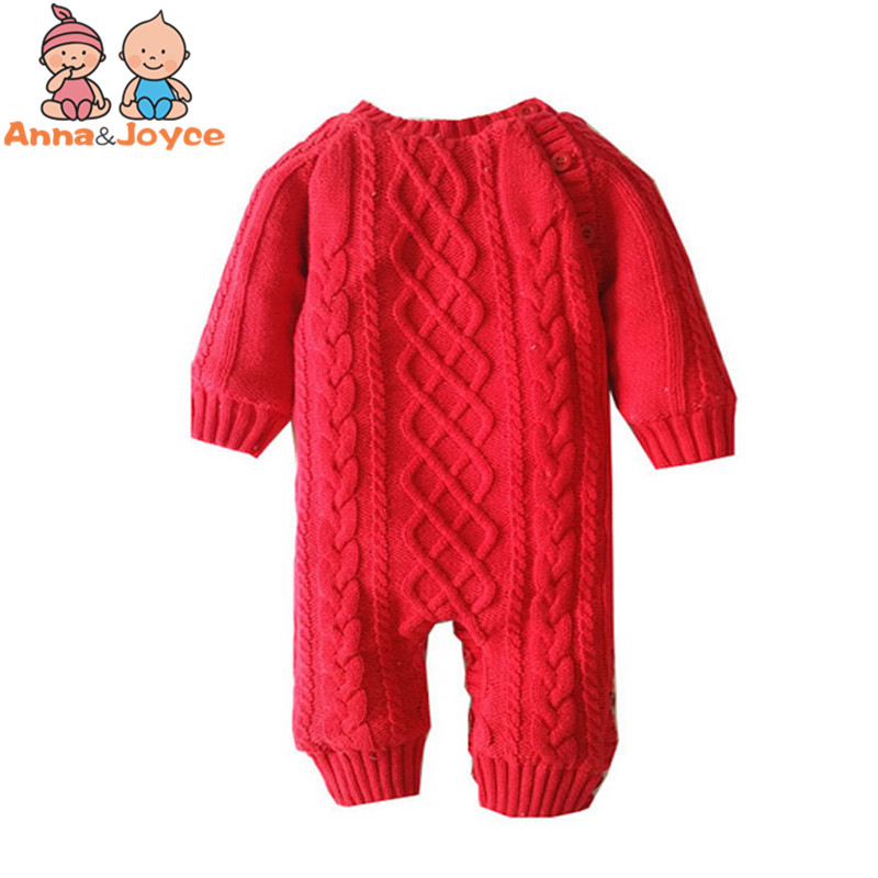 Baby Thickening Autumn and Winter Warm Soft Romper Kids Cotton Fashion Climb Clothes Suit 0 24months