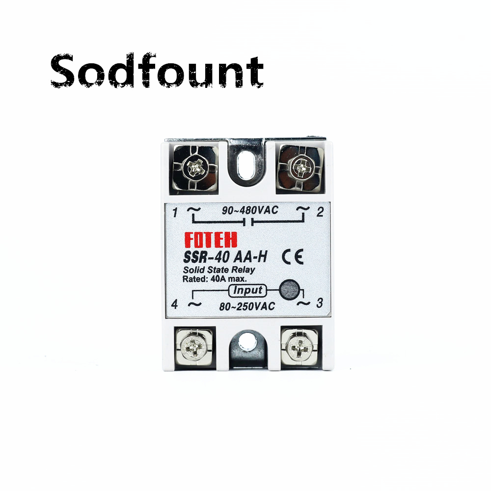 solid state relay SSR-40AA-H 40A actually 80-250V AC TO 90-480V AC SSR 40AA UP