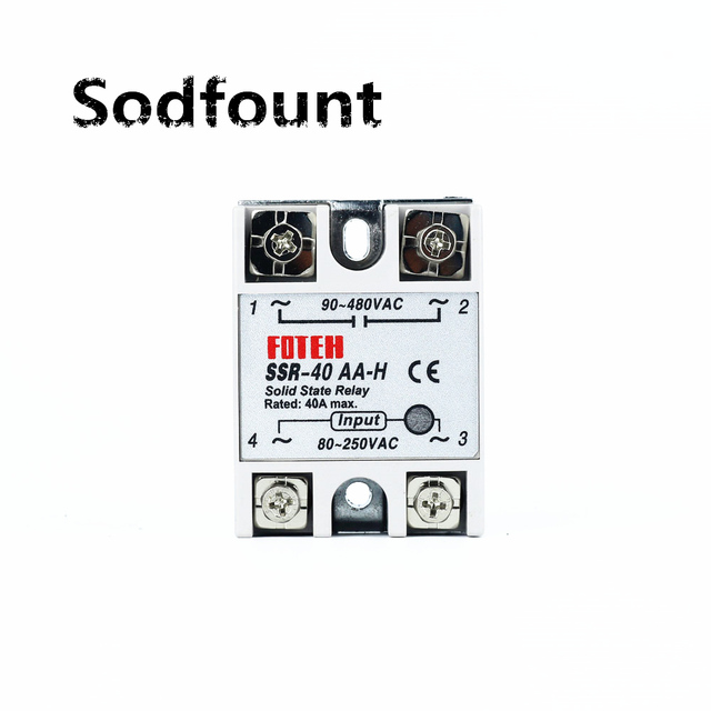 solid state relay SSR-40AA-H 40A actually 80-250V AC TO 90-480V AC SSR 40AA H relay solid state Resistance Regulator