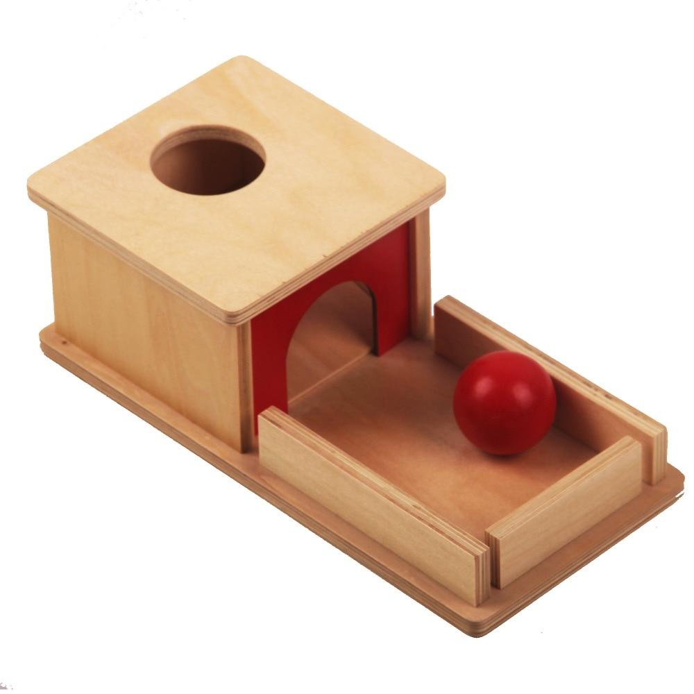 Jouets en bois Montessori bébé sujet rouge boule boîte préscolaire apprentissage jouets éducatifs pour enfants juguetes brinquedos ME2264H