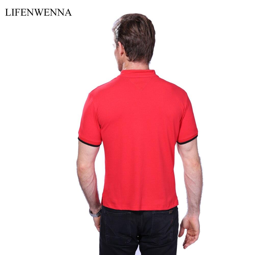 лидер продаж для мужчин в средства ухода за кожей шеи футболка лето 2017 г. модные однотонные короткий рукав футболка для мужчин laiso печати воротник тонкий подходят для мужчин с топ топы, футболки