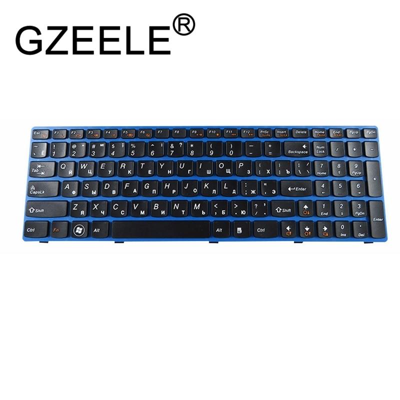 GZEELE Russian Laptop Keyboard For LENOVO V570 V570C V575 Z570 Z575 B570 B570A B570E B570G B575 B575A B575E B590 B590A Blue RU