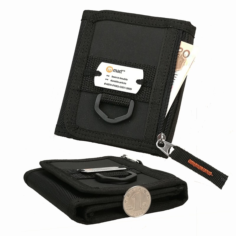 2020 New Design Nylon Trifold Short Casual Wallet For Male Men Boy Black Young Novelty Money Bag Purse Zipped Coin Id Pocket|designer purse|purse designernylon purse - AliExpress