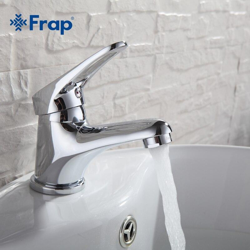 FRAP mini Elegante elegante Navio Afundar Bacia Banheiro Torneira de Bronze Torneira Misturadora de Água Acabamento Cromado F1013 F1036