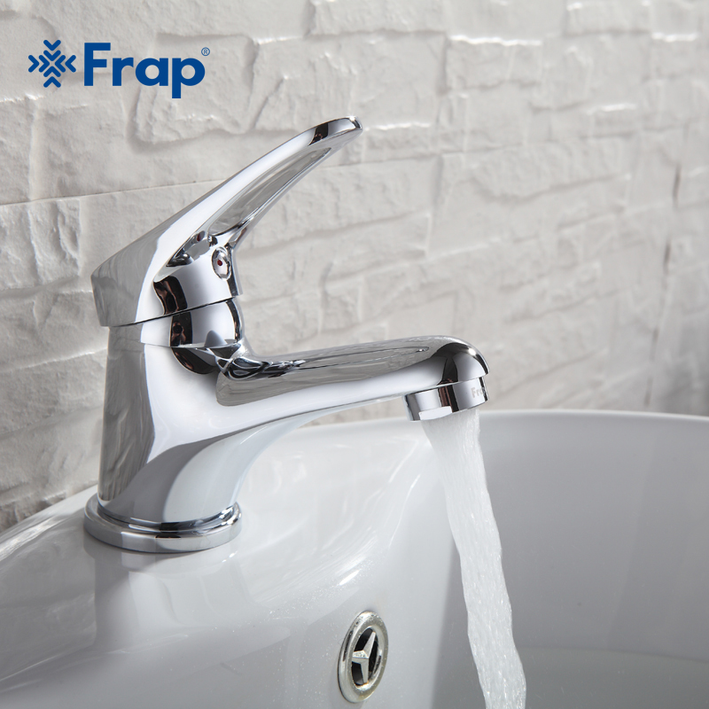FRAP mini Stylish elegant Bathroom Basin Faucet Brass Vessel Sink Water Tap Mixer Chrome Finish  F1013  F1036-in Basin Faucets from Home Improvement