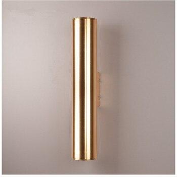 Nordic Gold LED Wandlamp Bar Hotel Slaapkamer Gang Licht Eetkamer Loft LED Wandlamp Balkon Verlichtingsarmaturen Gratis Verzending