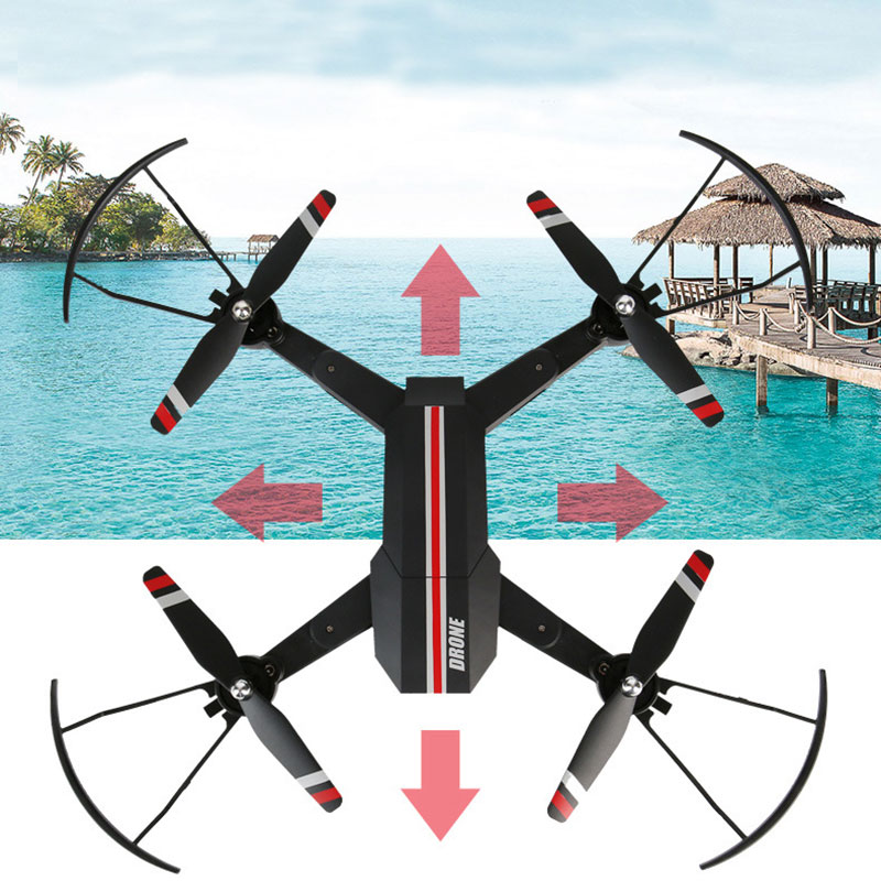 YC-ZDTW 12345W Headless Drone WIFI FPV With HD Camera Altitude Hold Helicopter Mode Foldable Arm RC Quadcopter Pocket Drone mini rc quadcopter foldable pocket drone with wifi fpv 0 3mp hd camera headless mode altitude hold rc helicopter vs s9hw