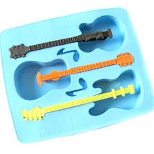 ice cream mold Fun guitar three grid cube kitchen accessories DIY Ice Cube modeling summer Home products