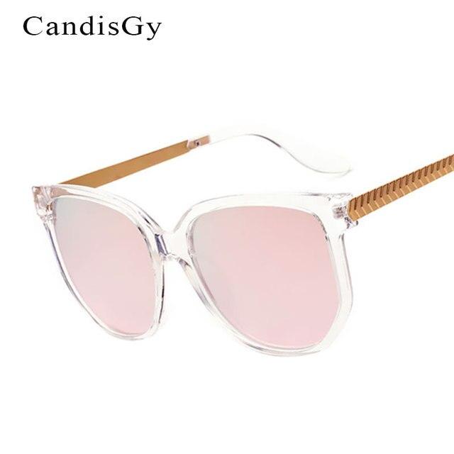 1676b96f8d Rose Miroir De Mode Ronde lunettes de Soleil Femmes Marque Designer Lady  Femme lunettes de Soleil