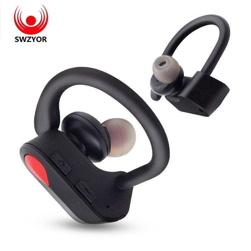 SWZYOR LY-20 TWS Senza Fili di Bluetooth del Trasduttore Auricolare Ear-hook cuffie Stereo di Bluetooth di Sport Auricolare Con microfono Per Tutto Il telefono Intelligente