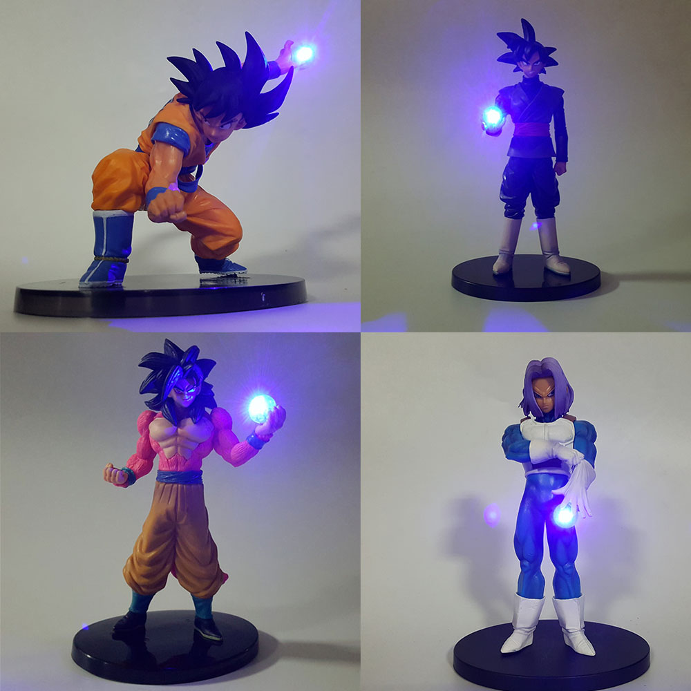 Dragon Ball Z Super Saiyan Goku Trunks LED Light Night Lamp Dragonball Goku Lamp PVC Model Figurine Kids Toys Gift For Christmas