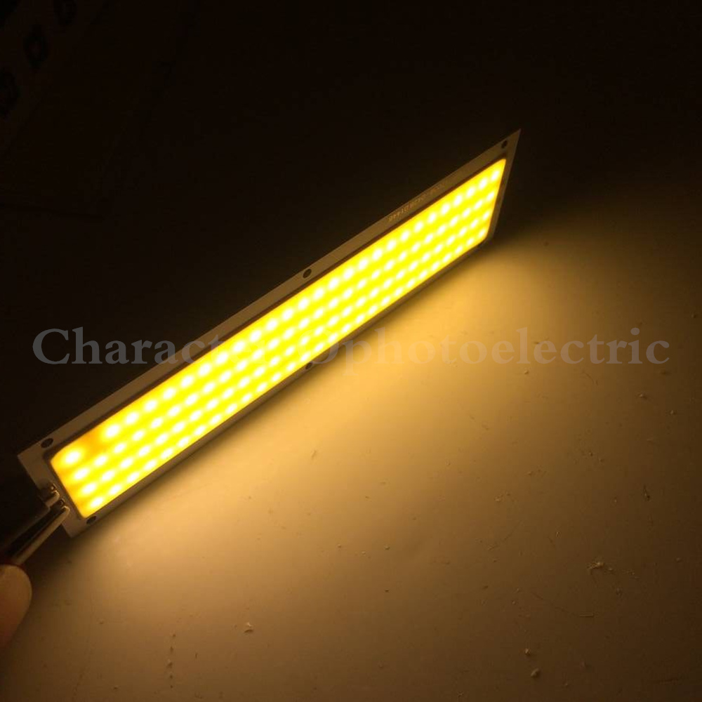 5PCS 10W LED COB Strip Light Bulb Lamp 1000LM DC 12V Warm White Cool White 120x36mm LED Chip Light Source for DIY in Light Beads from Lights Lighting