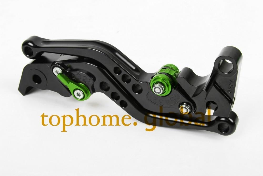 Accessoires de moto pour Kawasaki Z750R 2011 , 2012 / ZX10R 2006 , 2014  court noir guidon CNC embrayage levier de frein frein Lug poignées de la  boutique en