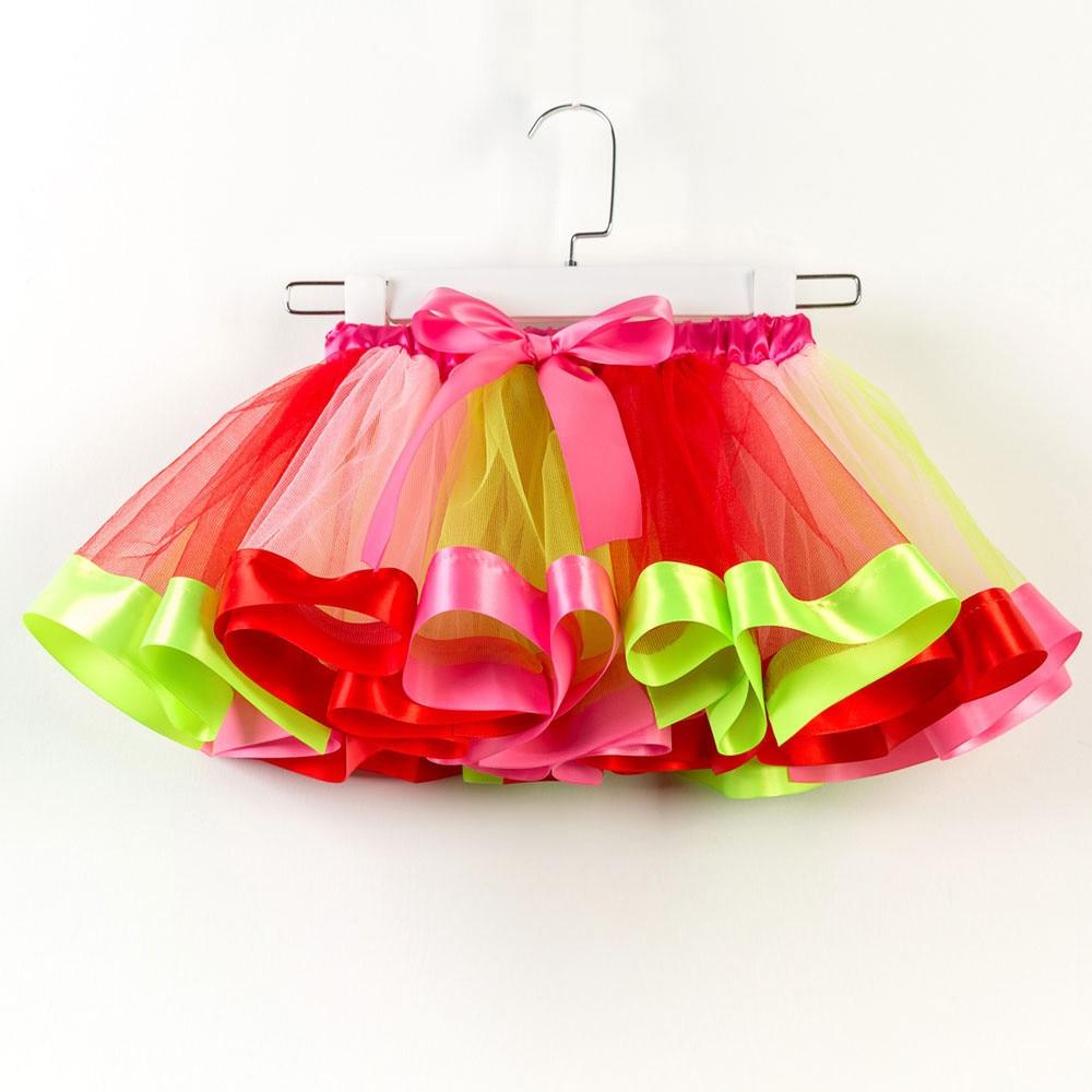 100% Wahr Muqgew Mädchen Kinder Tutu Tüll Party Skirtdance Ballett Kleinkind Regenbogen Baby Kostüm Feiner Rot Violett Blau Sommer Rock Einfach Zu Schmieren