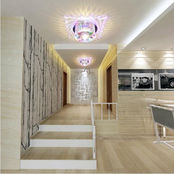 Colorpai 5W led kristályos folyosó lámpák modern folyosó - Beltéri világítás