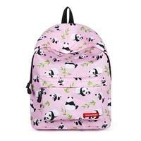 CH1505D4 107 New Fashion Schoolbag lovely panda Print backpacks Women Bag female Travel Backpack