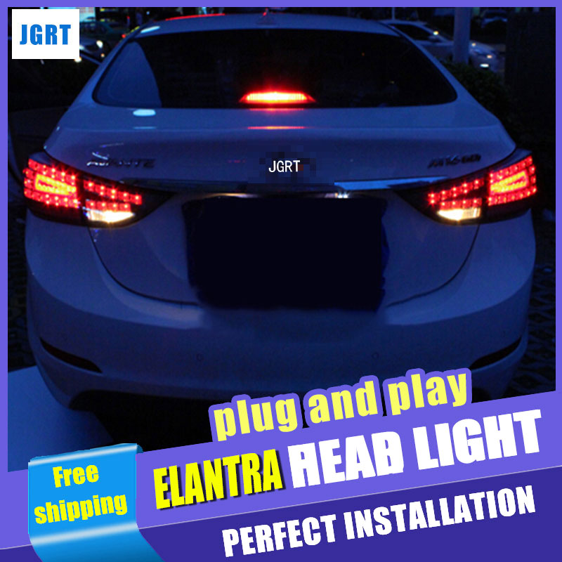 Car Styling for Hyundai Elantra Taillight assembly Benz Design New Elantra MD Tail Light Rear Lamp DRL+Brake light with 4pcs. цена