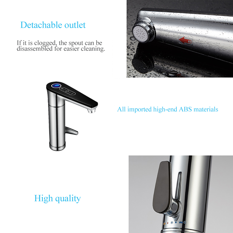 Купить с кэшбэком Fast Heating Water Heater 220V Banheiro Tankless Electric Tap Touch Bathroom/Kitchen Water Faucet Torneira With EU UK Plug