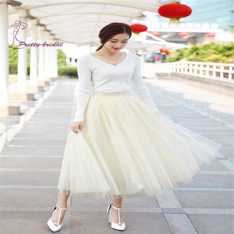 88e768c026 2016 Otoño Estilo de la Falda Larga de Tul Blanco Faldas Para Niñas Tutu  nueva faldas de Cintura coreana Piso Legnth Falda Accesorios en Enaguas de  Bodas y ...
